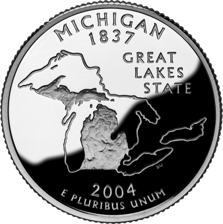 Michigan quarter: 50 States, 1837 Michigan, Michigan Born, Lakes States, Michigan States, States Quarter, U.S. States, Michigan Quarter, Pure Michigan