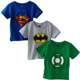 Fruit of the Loom Boys 2-7 3-Pack Funpals Justice League Crew Shirt