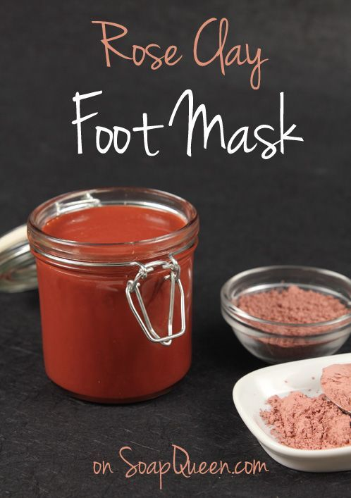 Rose Clay Foot Mask | Treat your feet to this mask made with Rose Clay, Vitamin E and Avocado Extract!