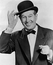 Maurice CHEVALIER (1888-1972) * AFI Top Actor nominee. When performing in English, he always put on a heavy French accent, although his normal spoken English was quite fluent and sounded more American. Photo 1959.