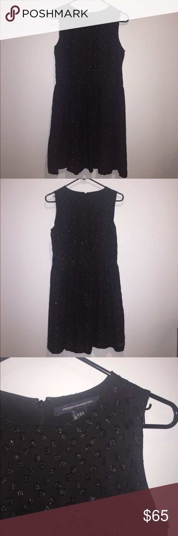 FRENCH CONNECTION BLACK FORMAL DRESS Love this little black formal dress from French Connection! The sparkly polka dots are super cute but not too crazy! Worn only once! In perfect condition! Good for formal occasions! French Connection Dresses