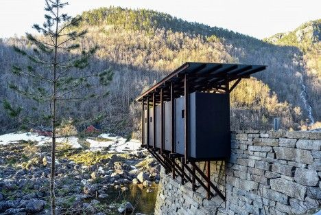 Allmannajuvet tourist route pavilion in Norway by Peter Zumthor. Photograph by…