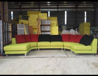 PABRIK SOFA INFORMA, IKEA, MELANDAS, COURTS, DAVINCI GENUINE LEATHER SOFA 08119354999: