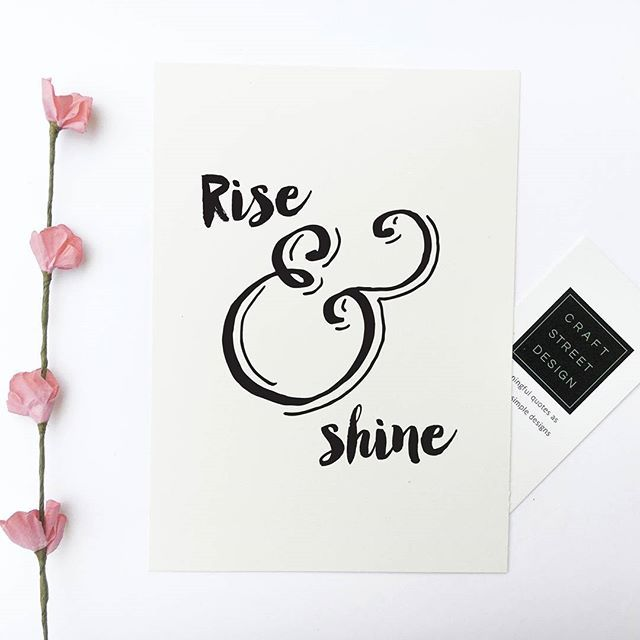 - Design - Details Hang this beautiful 'Rise & Shine'' inspirational print…
