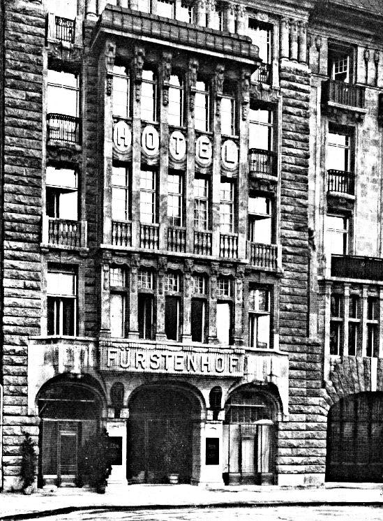 Hotel Der Fuerstenhof Details Der Fassade Zum Potsdamer Platz Undatiert Leipziger Platz Berlin Geschichte Berlin