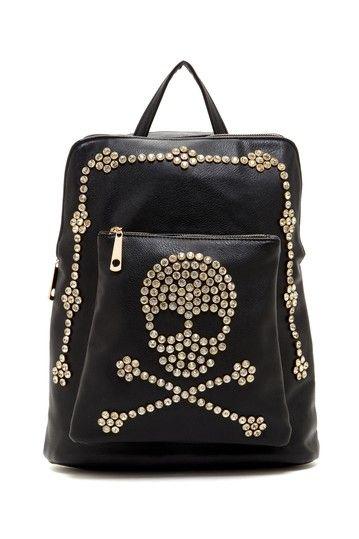 Skull Studded Backpack