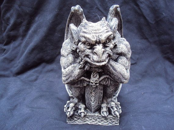 Gargoyle Statue Statuary Concrete Awesome by MountainArtCasting
