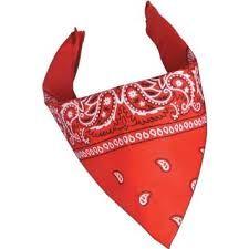 Rødt Cowboy tørklæde til dit Cowboy kostume.