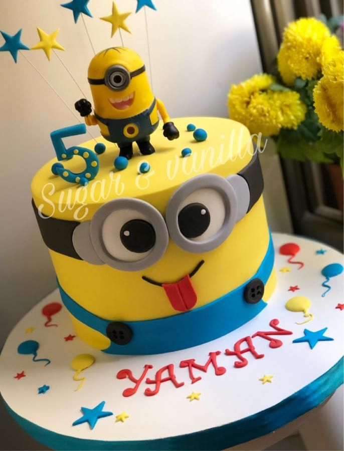 Minion Cake By Doaazagloul With Images Minion Birthday Cake Minion Cake Cool Birthday Cakes