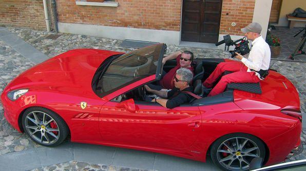 Tony in a red Ferrari California, Emilia Romagna: Ferrari California, Bourdain Photo, Red Ferrari, Romagna Journals, Emilia Romagna, Photo Picks, Food And Drinks, Reservation Episode, Tony Travel
