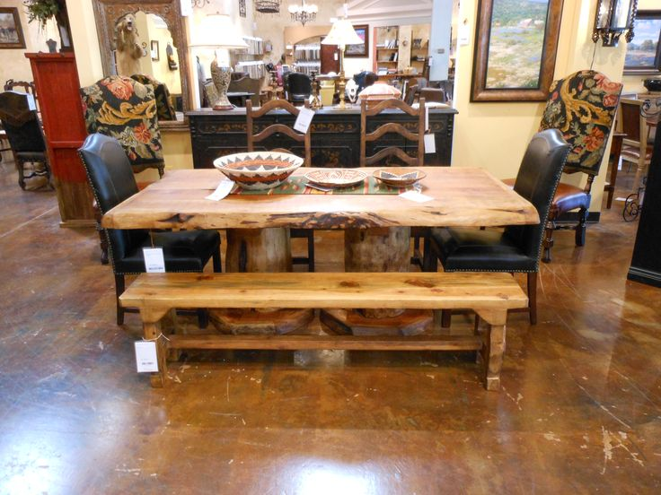 Double Pedestal Table Made Of Cedar And Ponderosa Pine. Hand Made By The  Tarahumara Indians