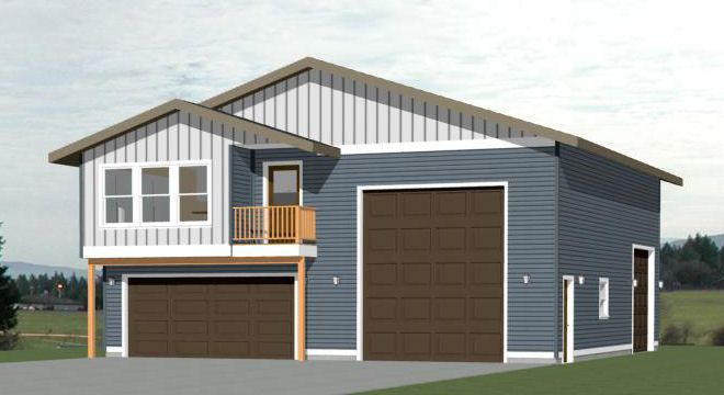 36x42 1 Rv Garage 36x42g2a 1 480 Sq Ft Excellent Floor Plans In 2020 Garage Guest House House Plans Small House Floor Plans