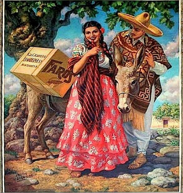 Mexican Calendar Girl Art : Best images about mexican calendar art and mexicanas