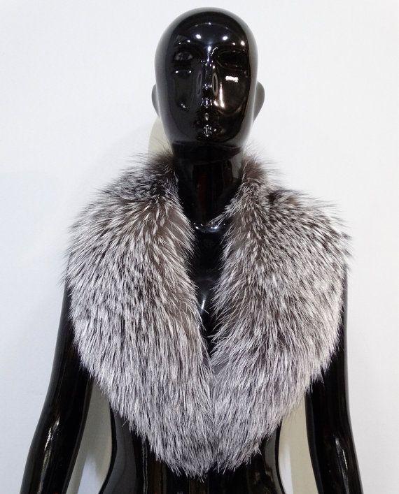 Real Large Fox Fur CollarScarfs furWrap by FilimegasFurs on Etsy