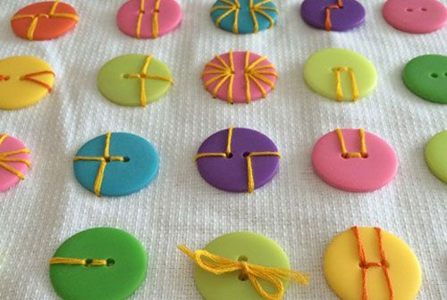 There are so many ways to sew on a button when making craft projects!
