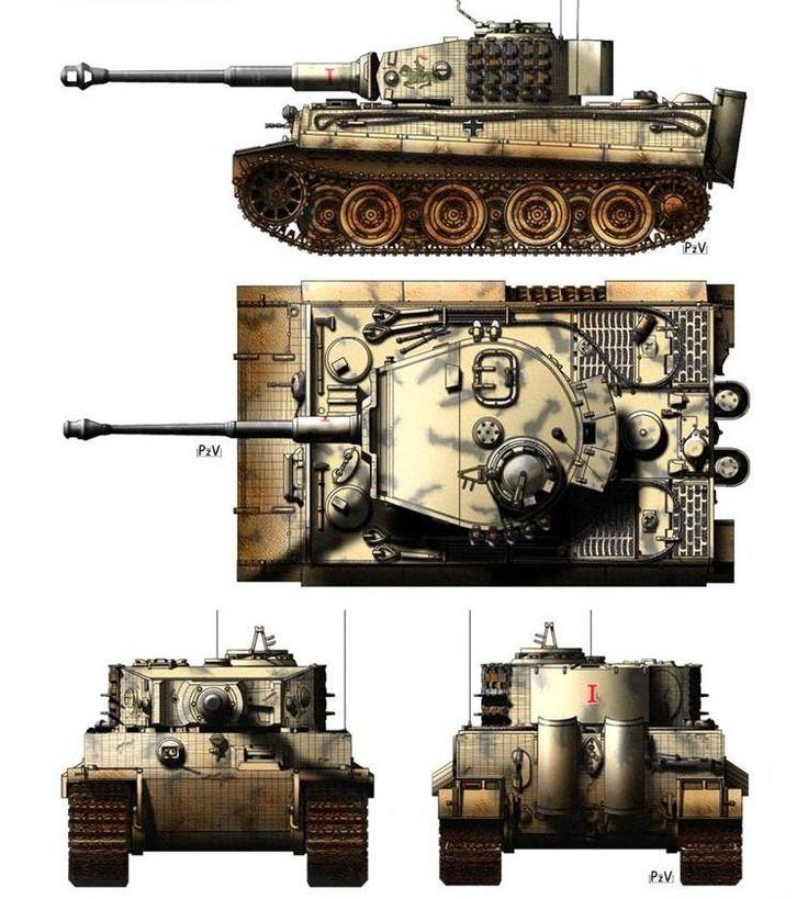 картинки танка тигр со всех сторон что