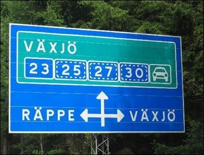 Vaxjo sweden sign