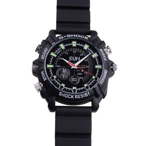 16GB 1920*1080 Multifunctional Full HD 1080P Waterproof Watch Camera 30FPS with Night Vision Supporting IR Camera Sold by Maxwell Global Trading by Maxwell. $84.99. Features 1.Video resolution:1920*1080P2.Video frame rate? 30 fps 3.Photo resolution:12M,4032*30244.HD pc webcam   function5.Video, take pictures with real time clock display 6.Supports voice recording seprately7.Uses HD9712    illumination photosensitive chip 8. memory:1GB-32GB supports IR camera 9.72 hour...