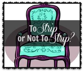 Great tips and advice on if you should strip furniture before painting!
