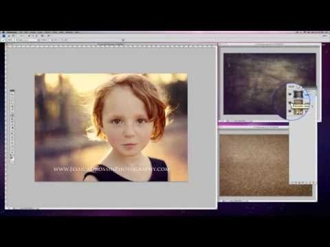 Jessica Drossin Demonstrates Editing Photos Using 2 Textures