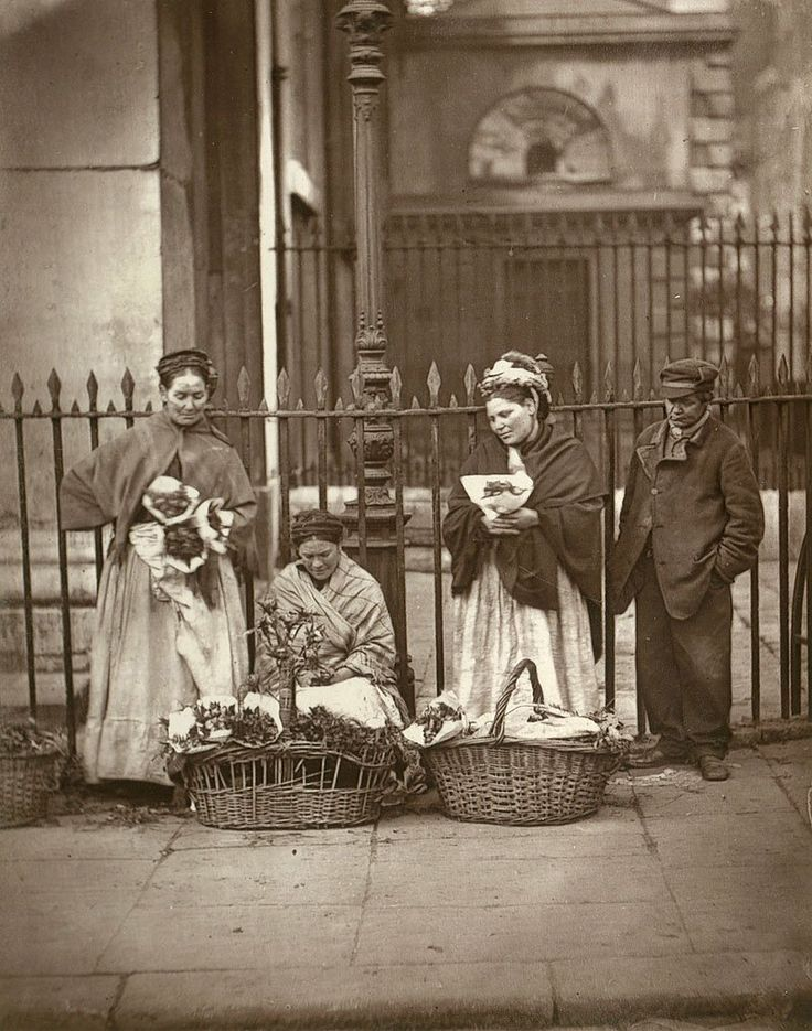 Photographs of London's Streets In 1877 - Business Insider  These women sold flowers in Covent Garden. According to Smith, their children were trained to be sell flowers too so that if the mother died, the child could take over   Read more: http://www.businessinsider.com/photographs-of-londons-streets-in-1877-2013-11?op=1#ixzz2uOiHxfy5