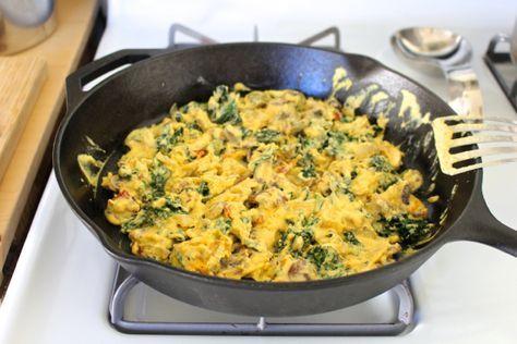 Besan Scramble (High Protein Soy-Free Gluten-Free Vegan Power Breakfast!) | Bonzai Aphrodite