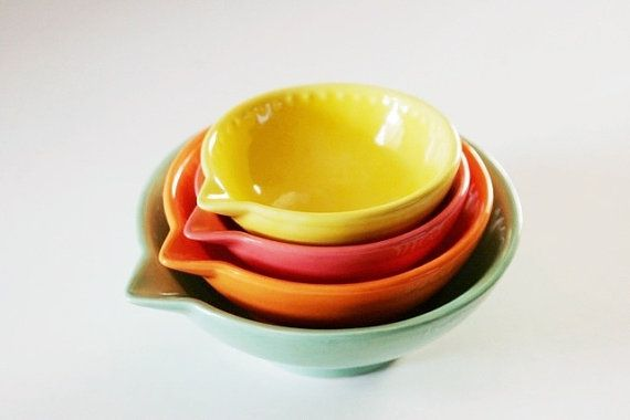 Neon Citrus Measuring Cup Set of Four Kitchen by GrayDecember