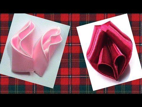 DIY flowers petals tutorial, Petals Kanzashi Tatiana Vasyliuk, Лепестки для цветов канзаши мк - YouTube