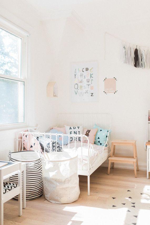 Modern pastel girl's room