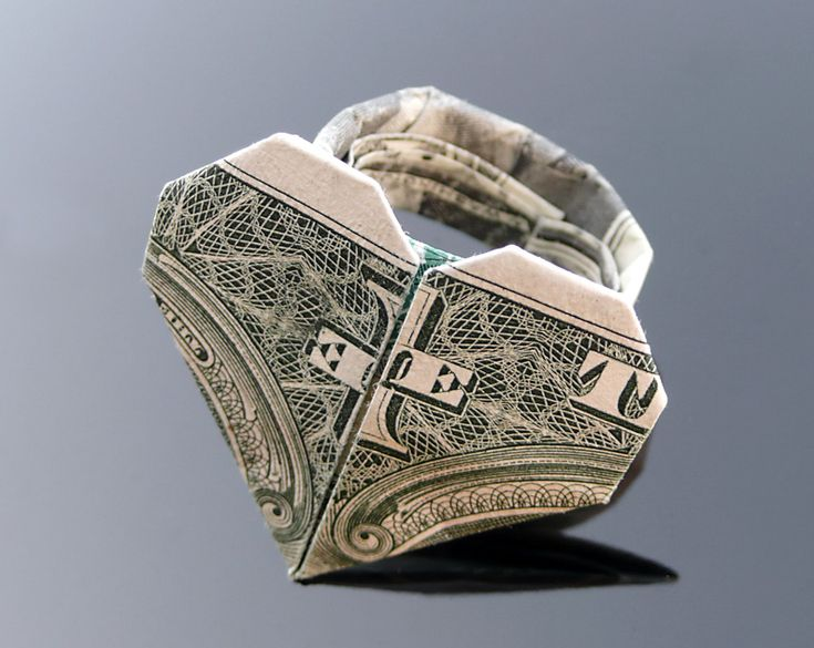Dollar Bill Origami Heart Ring by ~craigfoldsfives on deviantART