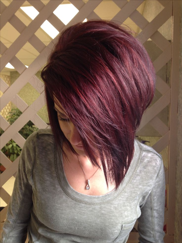 Red/black hair - this is not me, but is the colour of my hair at the moment!