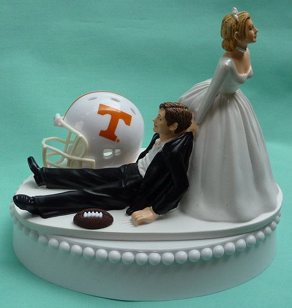 half and football wedding cake wedding cake topper of tennessee volunteers ut 15038