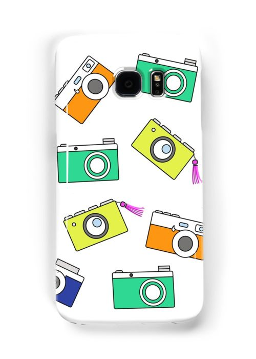 Retro Camera by Linecircle Co #samsung #galaxy #case #skin #camera #pattern #redbubble #linecircle #LinecircleStationary