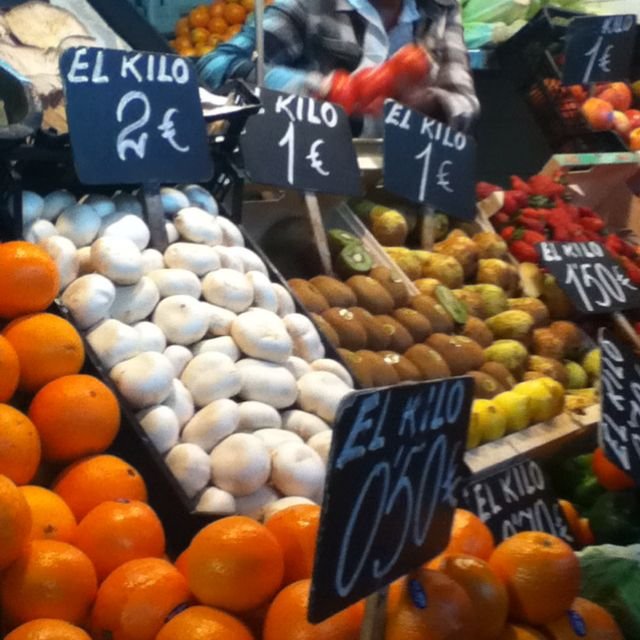Fruit at the market! #Spanish #food