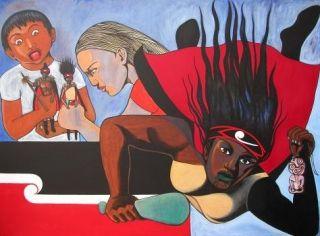 http://www.warwickhenderson.co.nz/paintings/robyn-kahukiwa/FlyingHina.jpg