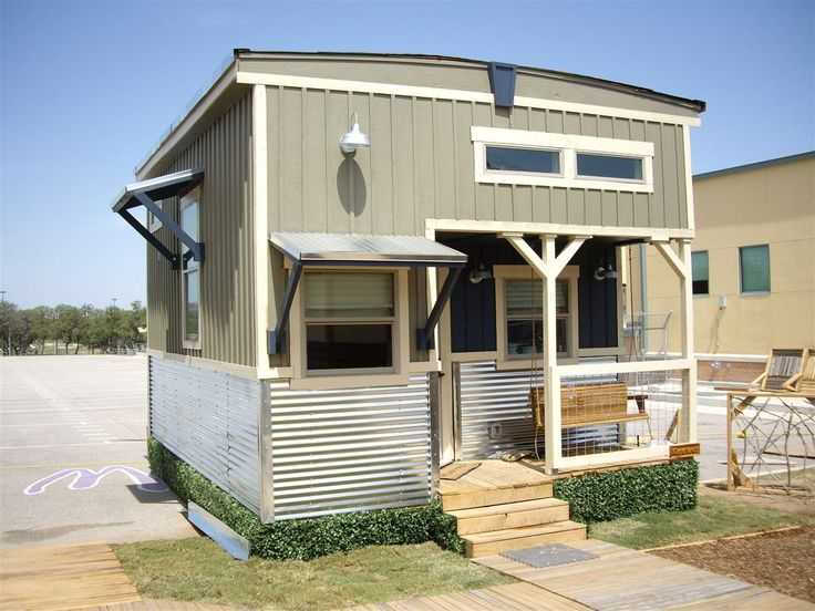 The Indian Blanket tiny house has a New York country loft style and was built by students at Northside ISD (Independent School District) in San Antonio, Texas. This is a Construction Careers Academ…
