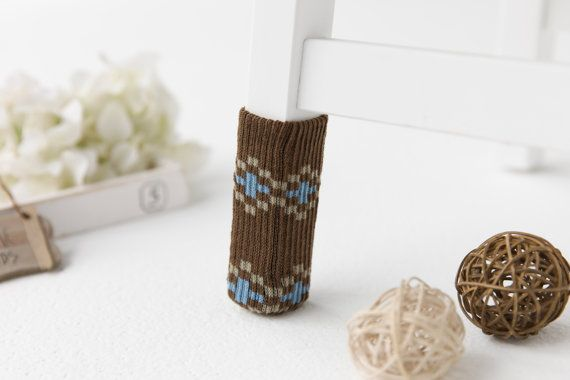 Brown Polaris  furniture socks by SeedCare on Etsy
