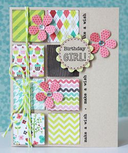 Repinned for pic only- This design looks like a great way to use paper scraps to create a pretty card- RRM
