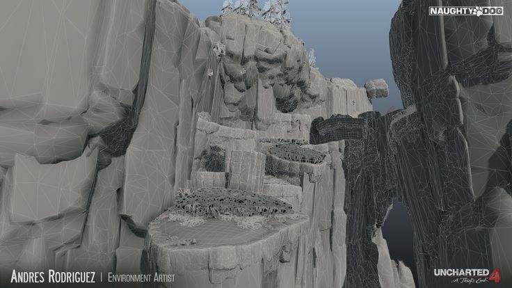 ArtStation - Uncharted 4 -Scotland Cliffs, Andres Rodriguez