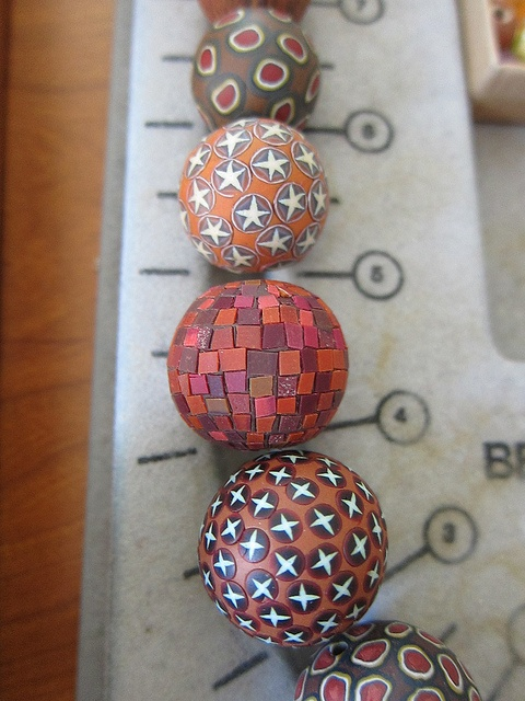 toops_red_mosaic_bead by cynthia tinapple, via Flickr