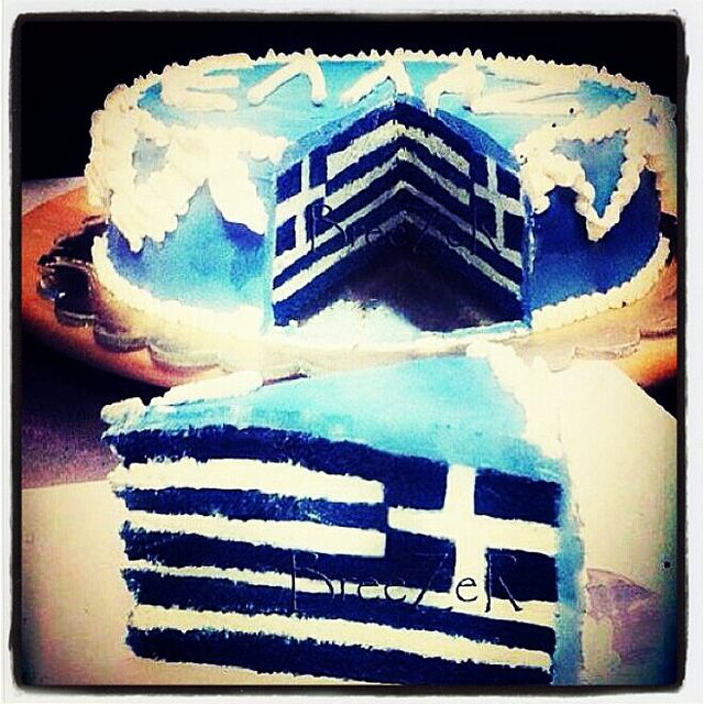 Greek cake. That is some/takes skill. lol!