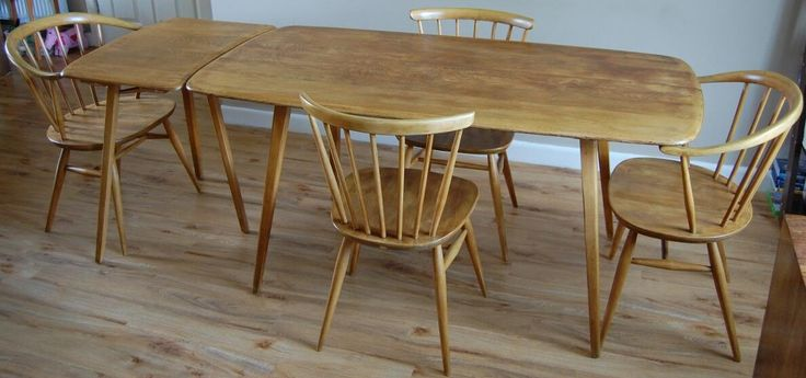 Ercol Table and Chairs with Extension