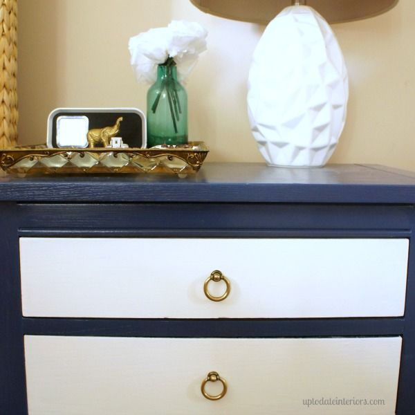 Love Your Space Challenge #7 - Change the hardware on your dresser!  Paint and a simple hardware switch can change the whole feel of a piece!  Works on kitchen cabinets, as well.