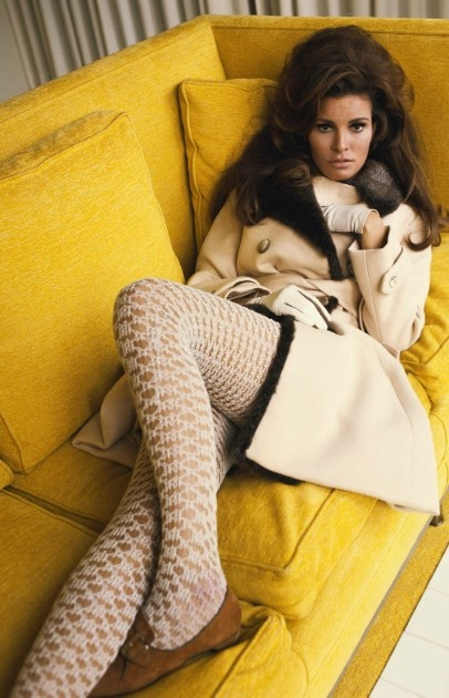 Raquel Welch in Valentino for French Vogue, 1967.