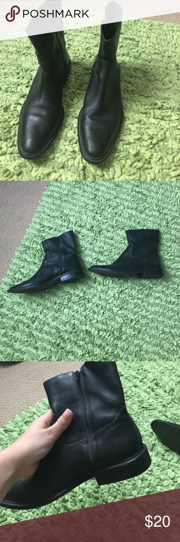 """Eddie Bauer Riding Boots Leather Black Eddie Bauer Leather Riding Boots. Size 10 Womens. """"Leather Upper"""" style. Worn a few times, in good condition. Eddie Bauer Shoes Ankle Boots & Booties"""