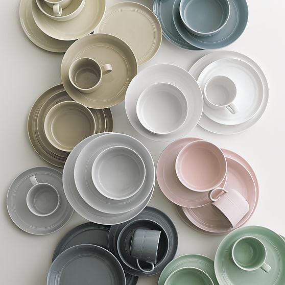 Hue Blush Dinner Plate in Dinnerware Sets | Crate and Barrel