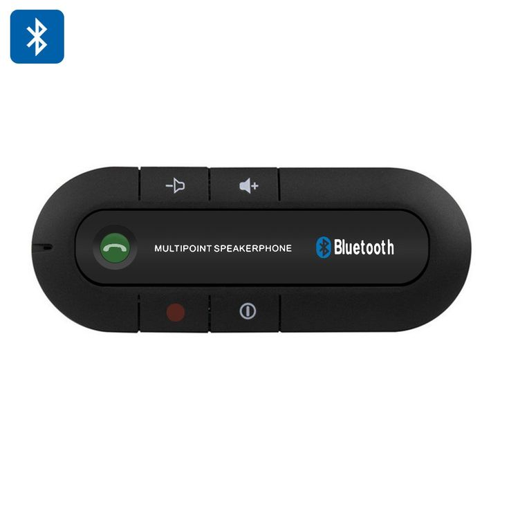 Hands Free Bluetooth Car Kit Speakerphone - Bluetooth 4.0 600mAh Battery 20 Hours Talk Time 1000 Hours Standby