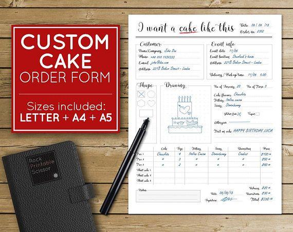 Ponad 25 najlepszych pomysłów na Pintereście na temat Cake order forms - delivery order form