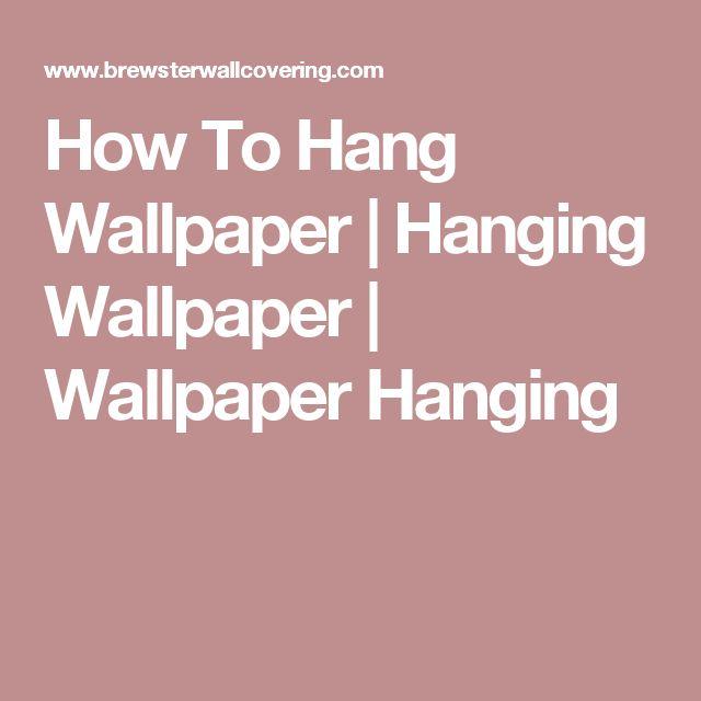 How To Hang Wallpaper | Hanging Wallpaper | Wallpaper Hanging