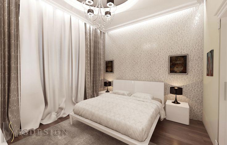 Спальная комната - Современность и классика переплелись на Королевских Виноградах в Праге. Дизайн проекта интерьера, квартира 3+kk, Прага, улица Šumavská. Архитектор - дизайнер Инна Войтенко.